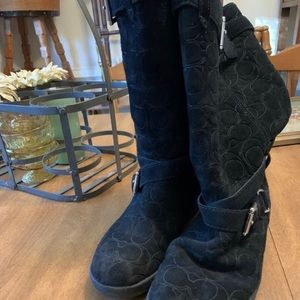 Coach suede boots size 8